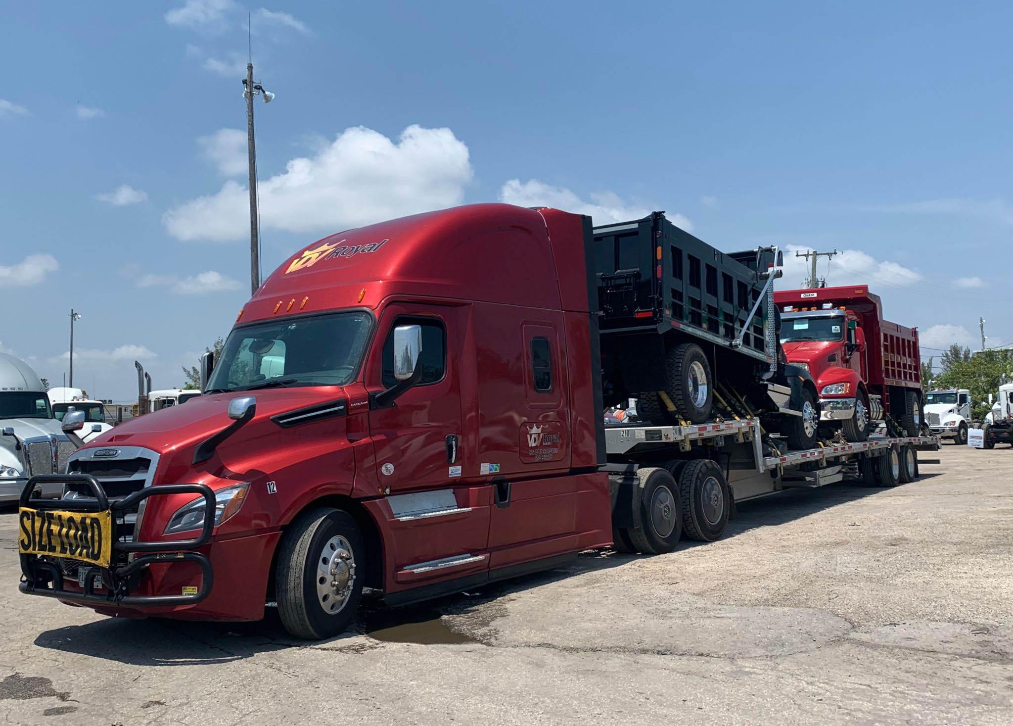 Double Dump Trucks