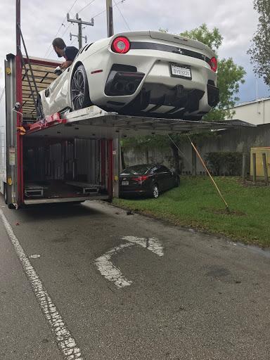 Enclosed Ferrari