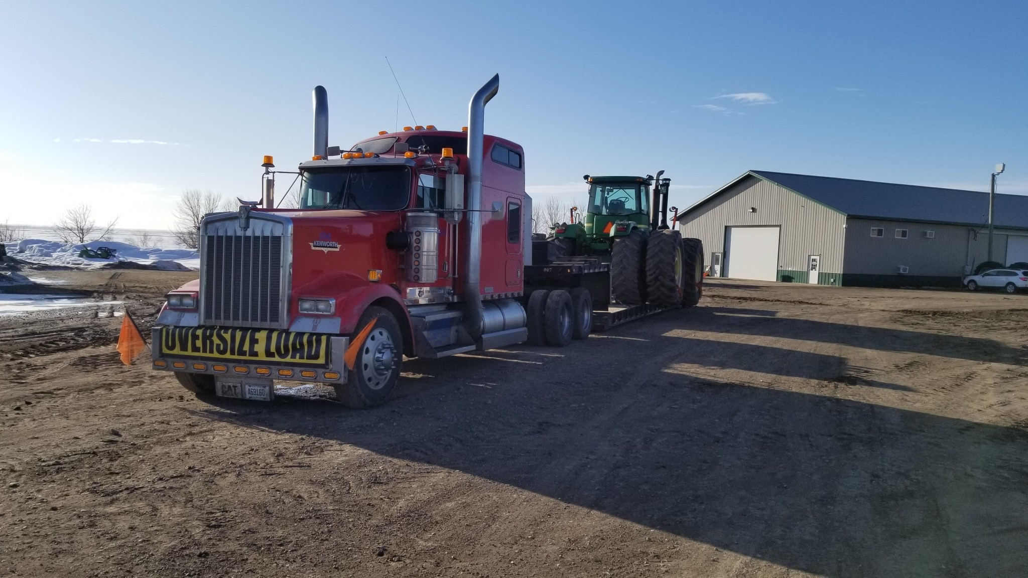 Tractor Hauling Oversize Load