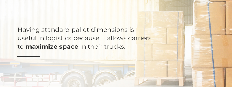 Standard Pallet Dimensions Allow Carriers to Maximize Space