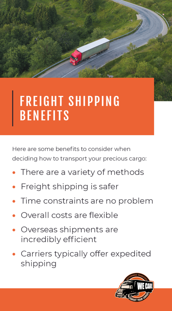 Freight shipping benefits