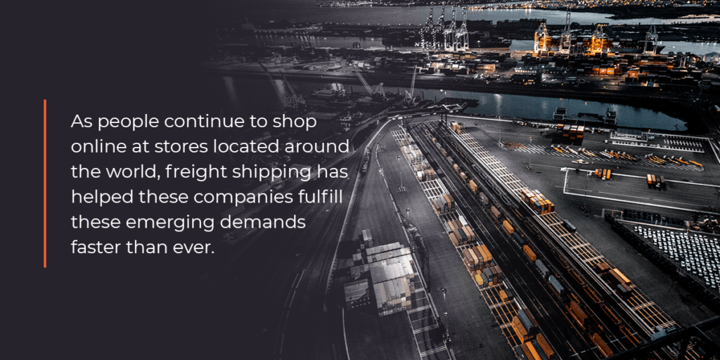 The need for freight shipping