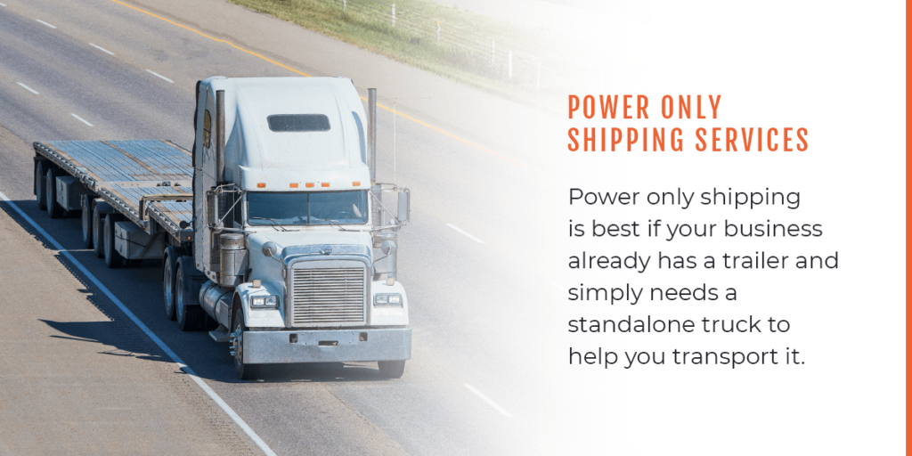 What is power only shipping